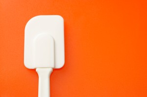 Spatula on an orange background