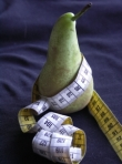 Pear and tape measure. Photo credit: Asha ten Broeke
