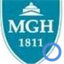 MGH logo with blue circle