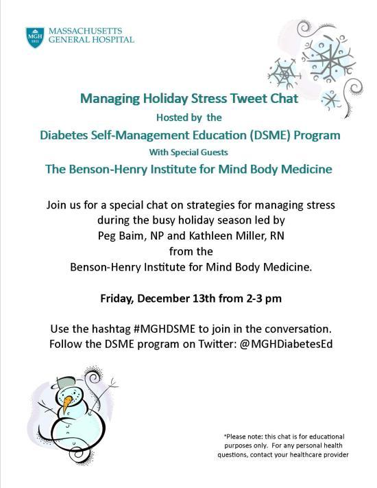 Managing Holiday Stress Chat