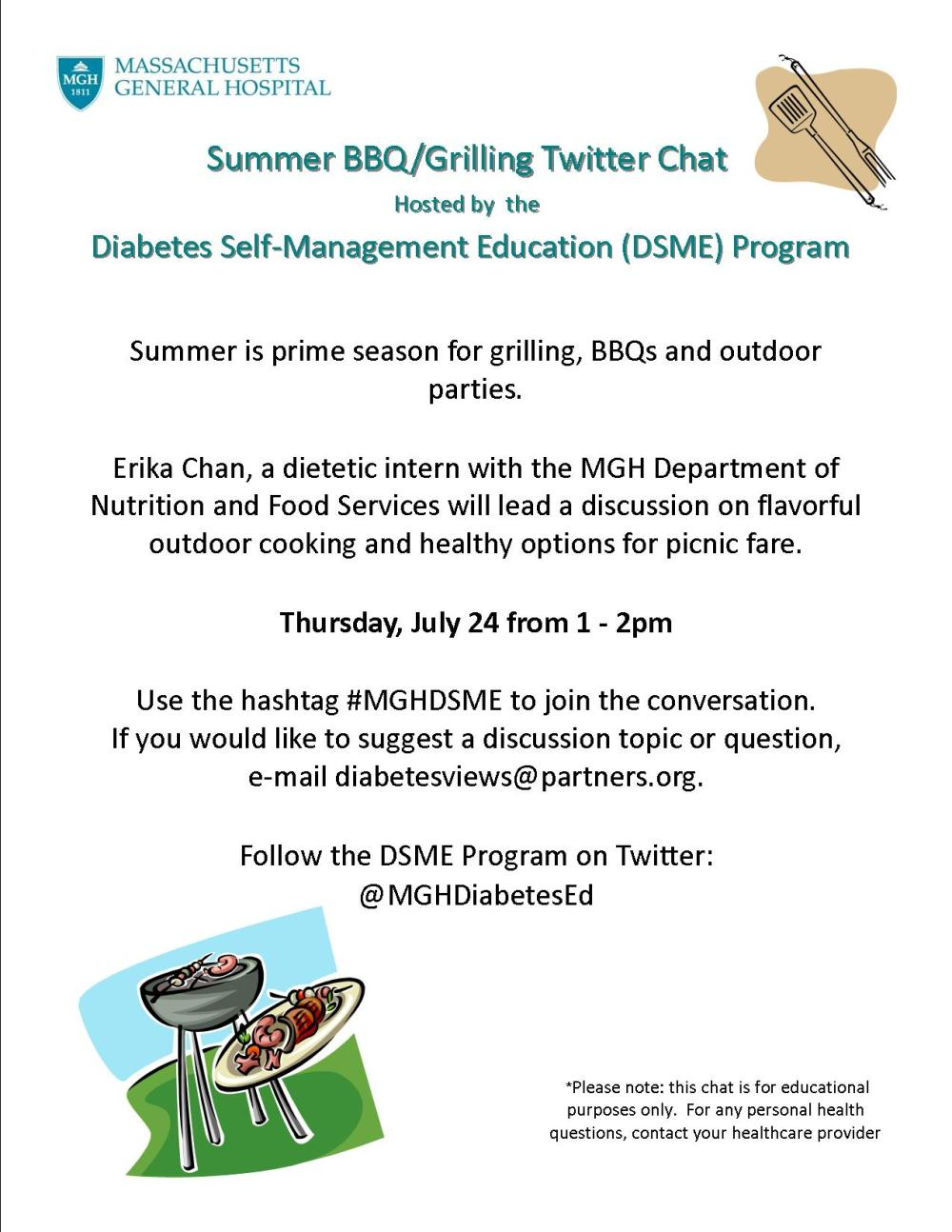 July Outdoor Cooking Chat